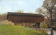 cou100254 - Pine Valley, Bucks Co, PA USA Covered Bridge Postcard Post Card Old Vintage Antique
