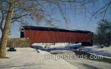 cou100256 - Covered Bridge, USA Covered Bridge Postcard Post Card Old Vintage Antique