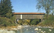 cou100258 - Jeffersonville, VT USA Covered Bridge Postcard Post Card Old Vintage Antique