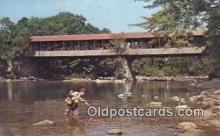 cou100259 - Covered Bridge, USA Covered Bridge Postcard Post Card Old Vintage Antique
