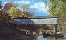 cou100261 - Thompson Mill, Shelby Co, IL USA Covered Bridge Postcard Post Card Old Vintage Antique