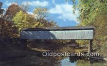 cou100262 - Thompson Mill, Shelby Co, IL USA Covered Bridge Postcard Post Card Old Vintage Antique