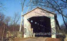 cou100263 - Wheeling, Gibson Co, IN USA Covered Bridge Postcard Post Card Old Vintage Antique