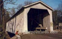 cou100265 - Green Sergeant's, Hunterdon Co, NJ USA Covered Bridge Postcard Post Card Old Vintage Antique