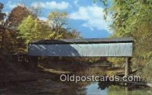 cou100267 - Thompson Mill, Shelby Co, IL USA Covered Bridge Postcard Post Card Old Vintage Antique