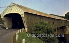 cou100270 - Cornish-Windsor, Cornish, NH USA Covered Bridge Postcard Post Card Old Vintage Antique