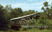 cou100275 - Richland Creek, Bloomfield, IN USA Covered Bridge Postcard Post Card Old Vintage Antique