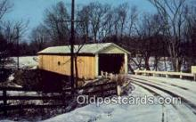 cou100281 - Riverdale, Ashtabula Co, OH USA Covered Bridge Postcard Post Card Old Vintage Antique