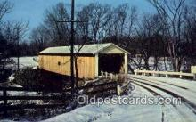 cou100282 - Riverdale, Ashtabula Co, OH USA Covered Bridge Postcard Post Card Old Vintage Antique