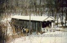 cou100285 - Shaunghum, Ashtabula Co, OH USA Covered Bridge Postcard Post Card Old Vintage Antique