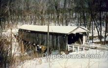cou100286 - Shaunghum, Ashtabula Co, OH USA Covered Bridge Postcard Post Card Old Vintage Antique