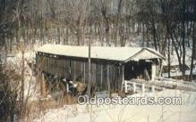 cou100287 - Shaunghum, Ashtabula Co, OH USA Covered Bridge Postcard Post Card Old Vintage Antique