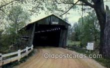 cou100288 - Old Town Lattice, Ashtabula Co, OH USA Covered Bridge Postcard Post Card Old Vintage Antique