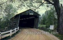 cou100291 - Old Town Lattice, Ashtabula Co, OH USA Covered Bridge Postcard Post Card Old Vintage Antique