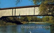 cou100299 - Mansfield, Parke Co, IN USA Covered Bridge Postcard Post Card Old Vintage Antique