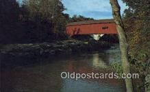 cou100300 - Narrows, Parke Co, IN USA Covered Bridge Postcard Post Card Old Vintage Antique