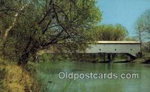 cou100303 - Jackson, Turkey Run State Park, USA Covered Bridge Postcard Post Card Old Vintage Antique