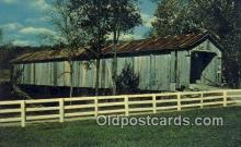 cou100306 - Brown Co, OH USA Covered Bridge Postcard Post Card Old Vintage Antique