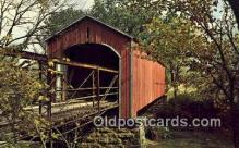 cou100308 - Covered Bridge, USA Covered Bridge Postcard Post Card Old Vintage Antique