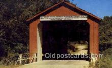 cou100309 - Princeton, IL USA Covered Bridge Postcard Post Card Old Vintage Antique