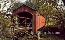 cou100310 - Charleston, IL USA Covered Bridge Postcard Post Card Old Vintage Antique