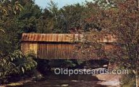 cou100311 - Belvidere Corners, VT USA Covered Bridge Postcard Post Card Old Vintage Antique