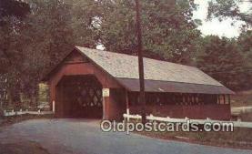 cou100312 - Creamery Bridge, West Brattleboro, VT USA Covered Bridge Postcard Post Card Old Vintage Antique