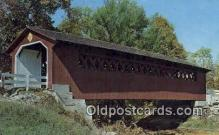 cou100313 - Covered Bridge, USA Covered Bridge Postcard Post Card Old Vintage Antique