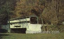 cou100314 - Kissing Bridge, OH USA Covered Bridge Postcard Post Card Old Vintage Antique