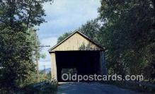 cou100315 - Brandon, VT USA Covered Bridge Postcard Post Card Old Vintage Antique