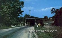 cou100320 - March Road, Ashtabula Co, OH USA Covered Bridge Postcard Post Card Old Vintage Antique
