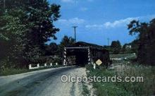 cou100321 - March Road, Ashtabula Co, OH USA Covered Bridge Postcard Post Card Old Vintage Antique