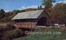 cou100322 - Passumpsic River, VT USA Covered Bridge Postcard Post Card Old Vintage Antique