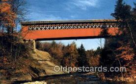 cou100326 - Chiselville Bridge, VT USA Covered Bridge Postcard Post Card Old Vintage Antique