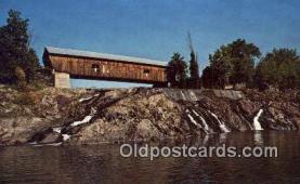 cou100329 - Hartland, VT USA Covered Bridge Postcard Post Card Old Vintage Antique