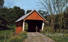 cou100330 - East Randolph, VT USA Covered Bridge Postcard Post Card Old Vintage Antique
