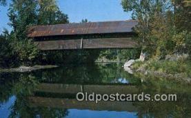 cou100331 - Kissing Bridge, Troy, VT USA Covered Bridge Postcard Post Card Old Vintage Antique