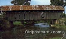 cou100332 - Coventry, VT USA Covered Bridge Postcard Post Card Old Vintage Antique