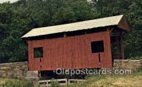 cou100333 - The Wright, Washington Co, PA USA Covered Bridge Postcard Post Card Old Vintage Antique