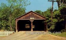 cou100334 - Pulp Mill, Middlebury, VT USA Covered Bridge Postcard Post Card Old Vintage Antique