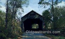 cou100336 - Brandon, VT USA Covered Bridge Postcard Post Card Old Vintage Antique