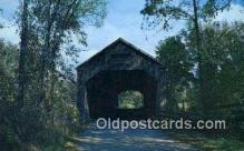 cou100337 - Brandon, VT USA Covered Bridge Postcard Post Card Old Vintage Antique