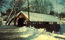 cou100339 - Creamery, Brattleboro, VT USA Covered Bridge Postcard Post Card Old Vintage Antique