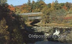 cou100340 - Bellows Falls, VT USA Covered Bridge Postcard Post Card Old Vintage Antique