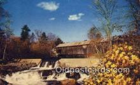cou100345 - Thetford Center, VT USA Covered Bridge Postcard Post Card Old Vintage Antique