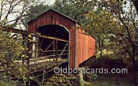 cou100346 - Covered Bridge, USA Covered Bridge Postcard Post Card Old Vintage Antique