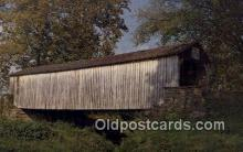 cou100347 - Chester, IL USA Covered Bridge Postcard Post Card Old Vintage Antique