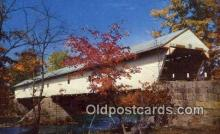 cou100348 - New England, Redstone, USA Covered Bridge Postcard Post Card Old Vintage Antique