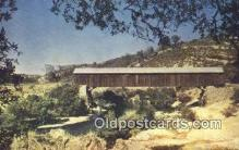 cou100349 - Mother Lode Co, CA USA Covered Bridge Postcard Post Card Old Vintage Antique