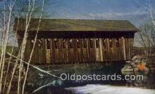 cou100350 - Single Span, Andover, NH USA Covered Bridge Postcard Post Card Old Vintage Antique